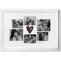 Framed Prints: Rustic Heart Pawprint Framed Print, White, Classic, None, White, Single piece, wallart_20x30, Brown found on Bargain Bro India from shutterfly.com for $174.98