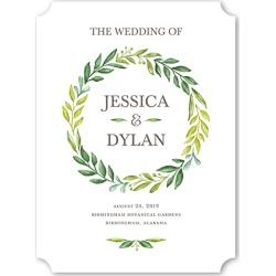 Wedding Program Cards: Gleeful Garden Wedding Program, White, 6x8 Flat Program
