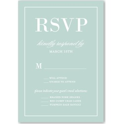 RSVP Cards: Divine Elegance Wedding Response Card, Square Corners, Green found on Bargain Bro India from shutterfly.com for $1.99
