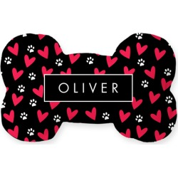 Dog Toys: Simply Chic Heart Print Dog Toy, Black found on Bargain Bro India from shutterfly.com for $14.99