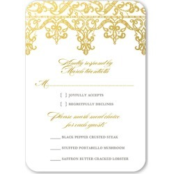 RSVP Cards: Elegantly Laced Wedding Response Card, Rounded Corners, White found on Bargain Bro India from shutterfly.com for $2.23