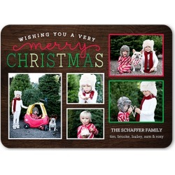 Holiday Cards: Looped Joy Holiday Card, Rounded Corners, Brown, 5x7 Photo Card found on Bargain Bro India from shutterfly.com for $20.28