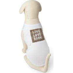 Dog T-Shirts: Rustic Live Love Bark Dog T-Shirt, Brown, Dog T Shirt