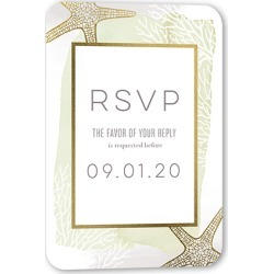 RSVP Cards: Beach Union Wedding Response Card, Rounded Corners, Green found on Bargain Bro India from shutterfly.com for $34.80
