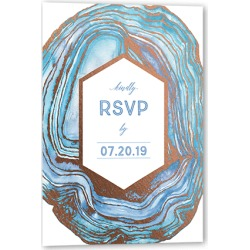 RSVP Cards: Opulent Lines Wedding Response Card, Square Corners, Blue found on Bargain Bro Philippines from shutterfly.com for $32.90