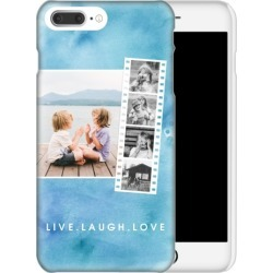 Custom iPhone Cases: Watercolor Filmstrip Collage iPhone Case, Slim case, Glossy, iPhone 8 Plus, Blue found on Bargain Bro Philippines from shutterfly.com for $44.99