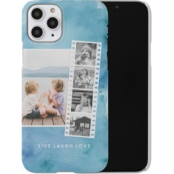 Custom iPhone Cases: Watercolor Filmstrip Collage iPhone Case, Slim case, Matte, iPhone 11 Pro, Blue found on Bargain Bro Philippines from shutterfly.com for $44.99
