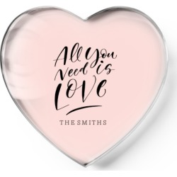All You Need Is Love Paper Weight, Heart Paper Weight, Pink found on Bargain Bro India from shutterfly.com for $34.99