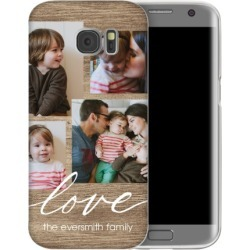 Rustic Love Samsung Galaxy Case, Slim case, Glossy, Samsung Galaxy S7 edge, Brown
