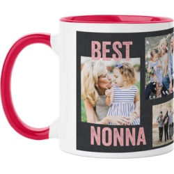 Mugs: Best Ever Collage Mug, Red, 11oz, Pink, Ceramic Mug found on Bargain Bro from shutterfly.com for USD $14.43