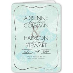 Wedding Program Cards: Tenderly Textured Wedding Program, Green, 5x7 Folded Program