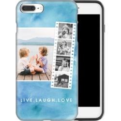 Custom iPhone Cases: Watercolor Filmstrip Collage iPhone Case, Silicone liner case, Glossy, iPhone 7 Plus, Blue found on Bargain Bro Philippines from shutterfly.com for $54.99