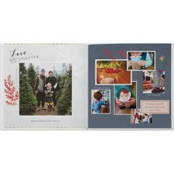 Photo Books: Warm Winter Wishes Photo Book, Premium Leather Cover Book, Deluxe Layflat, 8x8, Blue found on Bargain Bro from shutterfly.com for USD $107.14