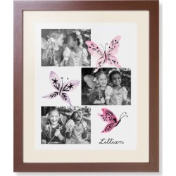 Framed Prints: Princess Watercolor Butterflies Framed Print, Brown, Contemporary, White, Cream, Single piece, wallart_16x20, Pin found on Bargain Bro India from shutterfly.com for $124.98