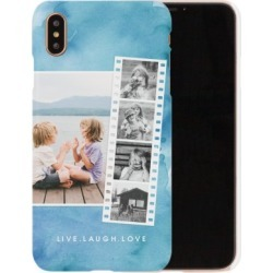 Custom iPhone Cases: Watercolor Filmstrip Collage iPhone Case, Slim case, Glossy, iPhone XS Max, Blue found on Bargain Bro Philippines from shutterfly.com for $44.99