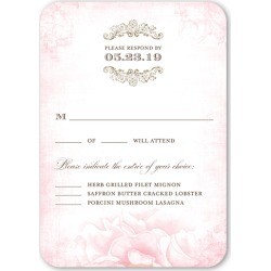 RSVP Cards: Precious Peonies Wedding Response Card, Rounded Corners, Pink found on Bargain Bro from shutterfly.com for USD $25.31