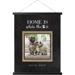 Hanging Canvas Prints: Rustic Home Is Where the Paw Is Hanging Canvas Print, HANGING_CANVAS_BLACK, HANGING_CANVAS_16X20, Black found on Bargain Bro from shutterfly.com for USD $45.58