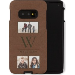 Samsung Galaxy Cases: Texture Monogram Collage Samsung Galaxy Case, Silicone liner case, Glossy, Galaxy S10E, Brown, Phone Case found on Bargain Bro India from shutterfly.com for $57.99