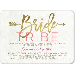 Bridal Troop Bachelorette Party Invitation, Rounded Corners, Pink found on Bargain Bro India from shutterfly.com for $2.94