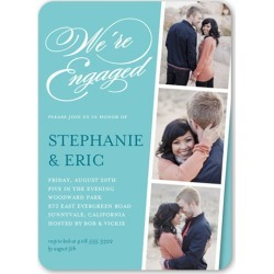 Linked For Life Engagement Party Invitation, Rounded Corners, Blue found on Bargain Bro India from shutterfly.com for $2.79