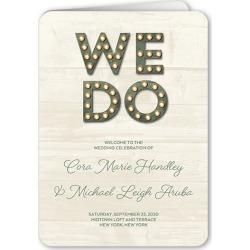 Wedding Program Cards: Rustic Nuptial Wedding Program, Green, 5x7 Folded Program