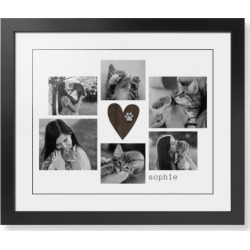 Framed Prints: Rustic Heart Pawprint Framed Print, Black, Contemporary, Black, White, Single piece, 16x20, Brown found on Bargain Bro from shutterfly.com for USD $94.98