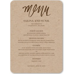 Wedding Menu Cards: Spectacular Splatter Wedding Menu, Rounded Corners, Brown, 5x7 Flat Menu found on Bargain Bro Philippines from shutterfly.com for $4.03