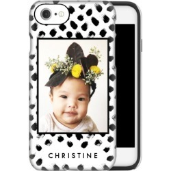 Custom iPhone Cases: Black and White Spots iPhone Case, Silicone liner case, Matte, iPhone SE, White found on Bargain Bro Philippines from shutterfly.com for $54.99