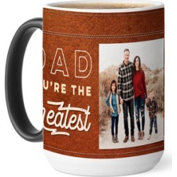 Mugs: Greatest Dad Color Changing Mug, 15oz, Brown found on Bargain Bro from shutterfly.com for USD $18.99