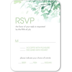 RSVP Cards: Modern Field Wedding Response Card, Rounded Corners, Green found on Bargain Bro from shutterfly.com for USD $25.31