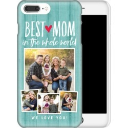 Custom iPhone Cases: Best Mom iPhone Case, Slim case, Matte, iPhone 8 Plus, Blue found on Bargain Bro Philippines from shutterfly.com for $44.99