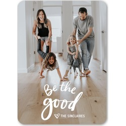 Holiday Cards: Be the Good Holiday Card, Rounded Corners, 5x7 Flat Card