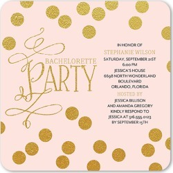 Bachelorette Party Invitations: Bubbling Bliss Bachelorette Party Invitation, Rounded Corners, Pink, 5x5 Flat Card found on Bargain Bro India from shutterfly.com for $2.79