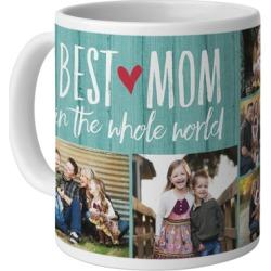 Mugs: Best Mom Mug, White, 11oz, Blue, Ceramic Mug