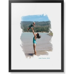 Brushed Moments Framed Print, Black, Contemporary, None, White, Single piece, 24 x 36 inches, White found on Bargain Bro India from shutterfly.com for $194.99