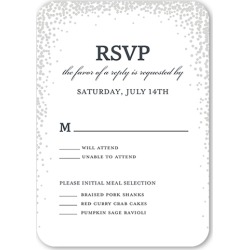 RSVP Cards: Sparkling Moment Wedding Response Card, Rounded Corners, White found on Bargain Bro India from shutterfly.com for $2.23