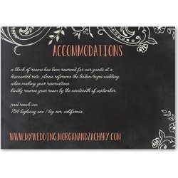 Enclosure Cards: Chalk Celebration Wedding Enclosure Card, Square Corners, Orange