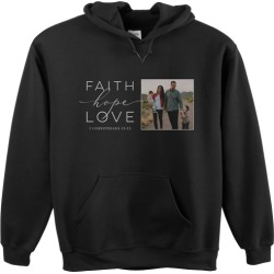 Custom Hoodies: Faith Hope Love Gallery Custom Hoodie, ADULT_HOODIE_DOUBLE_SIDED, L, Black, Black found on Bargain Bro Philippines from shutterfly.com for $54.99