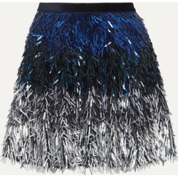 Alice Olivia - Cina Dégradé Sequined Tulle Mini Skirt - Navy found on MODAPINS from NET-A-PORTER for USD $378.00