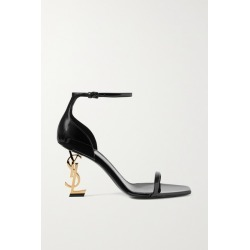SAINT LAURENT - Opyum Patent-leather Sandals - Black found on Bargain Bro UK from NET-A-PORTER UK