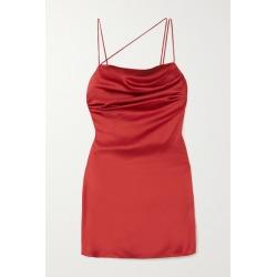De La Vali - Frisco Draped Satin Mini Dress - Claret found on MODAPINS from NET-A-PORTER for USD $435.00