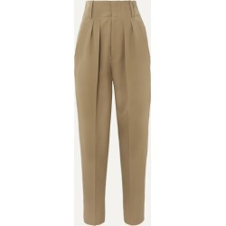 Isabel Marant - Durneri Pleated Wool-twill Tapered Pants - Army green found on Bargain Bro UK from NET-A-PORTER UK