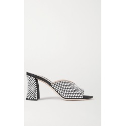 Miu Miu - Crystal-embellished Satin Mules - Black found on MODAPINS from NET-A-PORTER UK for USD $909.51