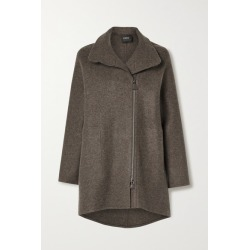 Akris - Mélange Cashmere Coat - Anthracite found on MODAPINS from NET-A-PORTER UK for USD $5095.21