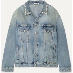 Miu Miu - Oversized Crystal-embellished Denim Jacket - Blue found on MODAPINS from NET-A-PORTER UK for USD $1494.71