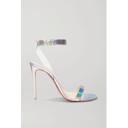 Christian Louboutin - Jonatina 100 Pvc-trimmed Iridescent Leather Sandals - Metallic found on Bargain Bro India from NET-A-PORTER for $730.00