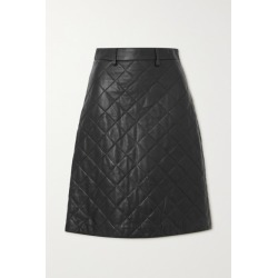 Dodo Bar Or - Lona Quilted Leather Midi Skirt - Black found on MODAPINS from NET-A-PORTER for USD $1030.00