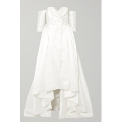 Alexis Mabille - Off-the-shoulder Satin-piqué Gown - White found on MODAPINS from NET-A-PORTER for USD $4170.00
