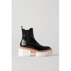 Stella McCartney - Emilie Vegetarian Leather Platform Chelsea Boots - Black found on Bargain Bro UK from NET-A-PORTER UK
