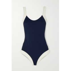 Odyssee - Aurelia Two-tone Swimsuit - Navy found on Bargain Bro Philippines from NET-A-PORTER for $250.00